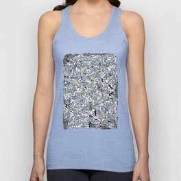 Lots of Bodies Doodle in Black and White Unisex Tanktop