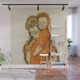 "Egon Schiele ""Mother and Child"" Wall Mural"