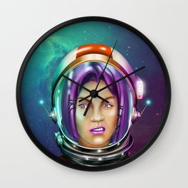 Cosmic girl Wall Clock