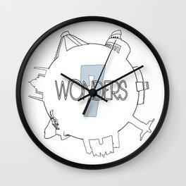 7 Wonders Wall Clock