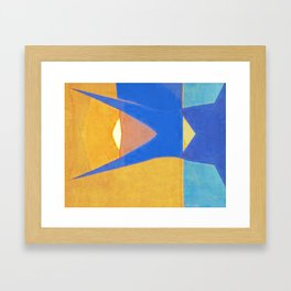 Half Fish Framed Art Print