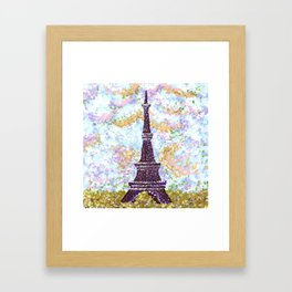 Eiffel Tower Pointillism by Kristie Hubler Framed Art Print