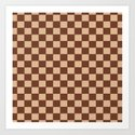 Checkers - Brown and Beige by biskichips
