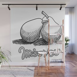 Miss You Wall Mural