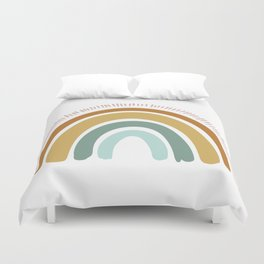 Boho Rainbow Duvet Cover