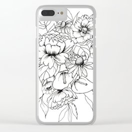 Botanical Bouquet Clear iPhone Case