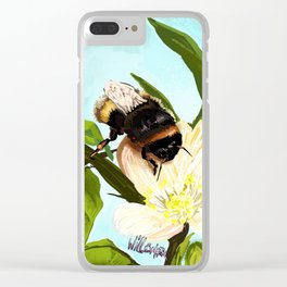 Bee on flower 4 Clear iPhone Case
