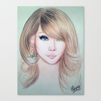 2ne1 Canvas Prints featuring CL (2NE1) - Lee Chae Rin by Hileeery
