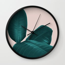 Ficus Elastica #4 #art #society6 Wall Clock