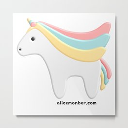 Cute kawaii Unicorn Metal Print