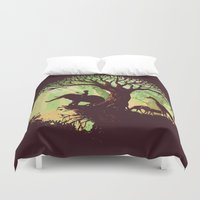 dreams Duvet Covers featuring The jungle says hello by Picomodi