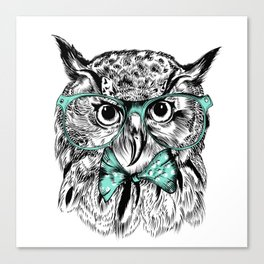 Hipster Owl Canvas Print