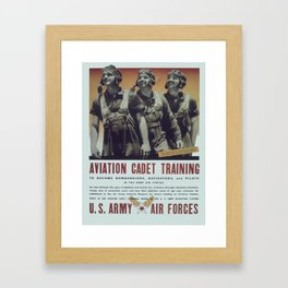 Vintage poster - Aviation Cadet Training Framed Art Print