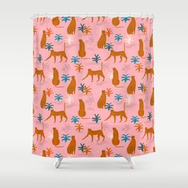 The Pink Jungle Shower Curtain