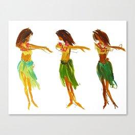 Hula Lessons Canvas Print