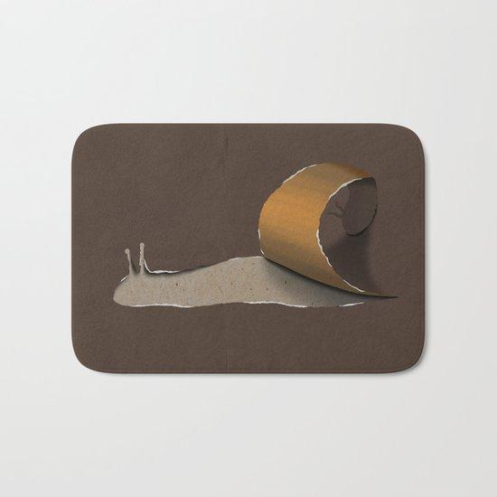 snail brown Bath Mat