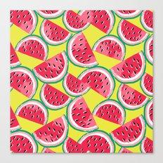 Watermelon Watercolor Canvas Print