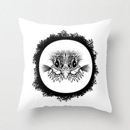 Half Bird Throw Pillow