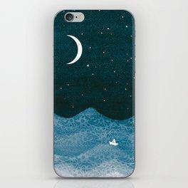 ornament ocean, moon & boat iPhone Skin