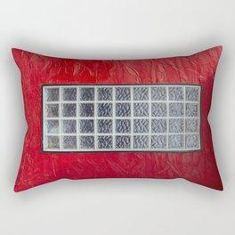 Glass Window on a Red Wall Rectangular Pillow
