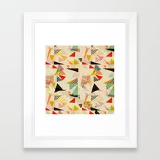 between shapes Framed Art Print