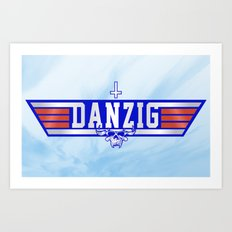 Top Gunzig Art Print