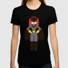 Batwoman Womens Fitted Tee Black LARGE