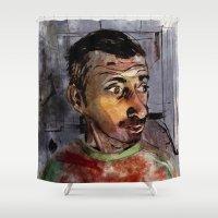 selfie Shower Curtains featuring Selfie by Jonas Ericson