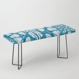 Blue and White Batik  Bench
