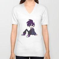 randy c V-neck T-shirts featuring randy boy by nubbybub