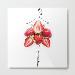 Edible Ensembles: Stawberry Metal Print