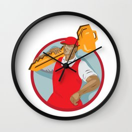 Locksmith Carry Key Circle WPA Wall Clock