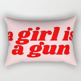 a girl is a gun Rectangular Pillow