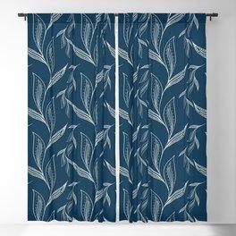 Indigo Foliage #society6 #pattern #indigo Blackout Curtain