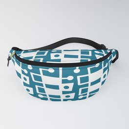 Mid Century Modern Abstract 214 Peacock Blue Fanny Pack