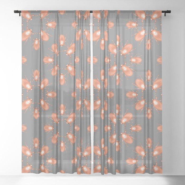 Copper Beetle Sheer Curtain