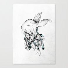 Poetic Rabbit Canvas Print