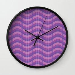 Wavy Plaid (Purple) Wall Clock