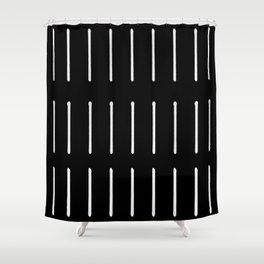 Organic / Black Shower Curtain