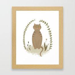 Nature Cat Framed Art Print