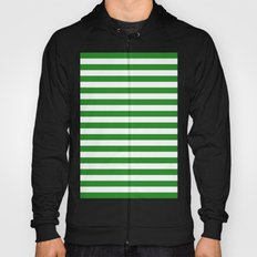 Horizontal Stripes (Forest Green/White) Hoody