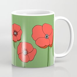 Red Poppies by Emma Freeman Designs Coffee Mug