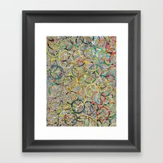 Rainbow Circles Collage Framed Art Print