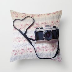 Camera  Love Throw Pillow