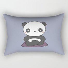Kawaii Cute Yoga Panda Rectangular Pillow