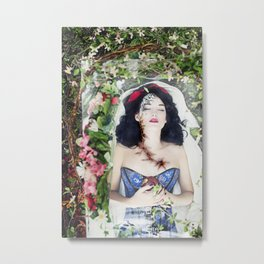 Snow White: Eternal Sleep Metal Print
