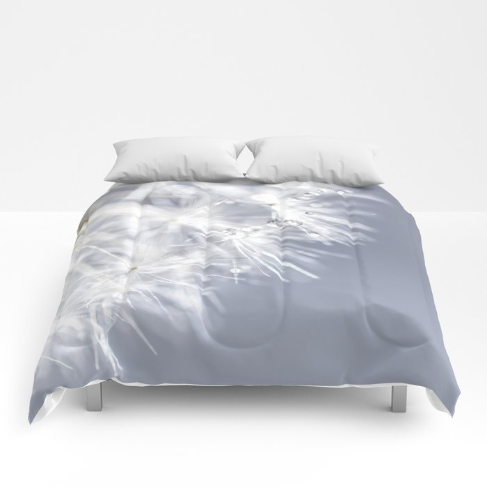 Sparkling dandelion with droplets - Flower water Comforters