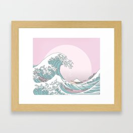 Great Wave Pastel Framed Art Print