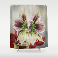 Twin Lilies Shower Curtain