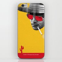 hunter s thompson iPhone & iPod Skins featuring Hunter S. Thompson by Zmudart